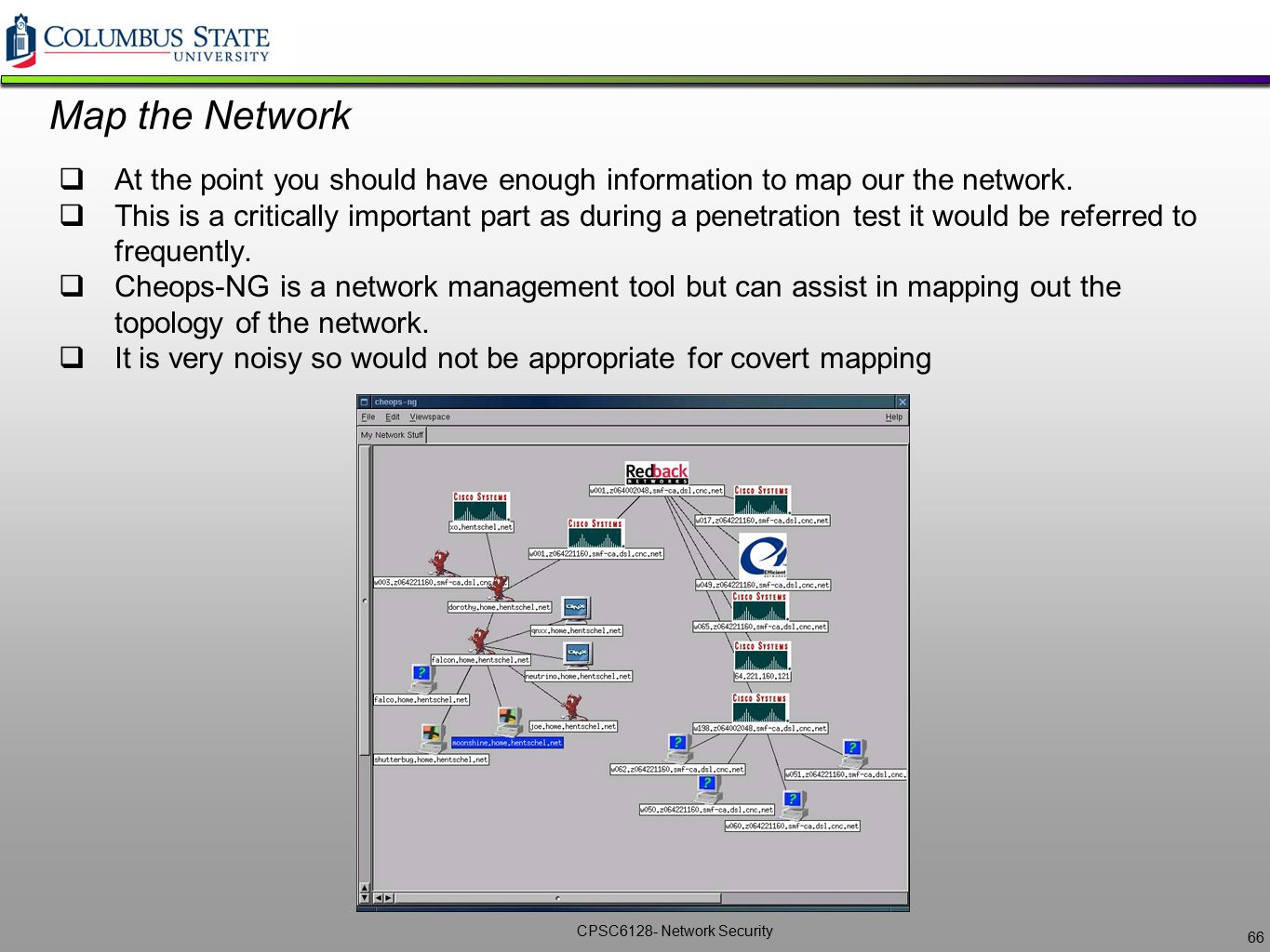 Map the Network At the point you should have enough information to map our the network.