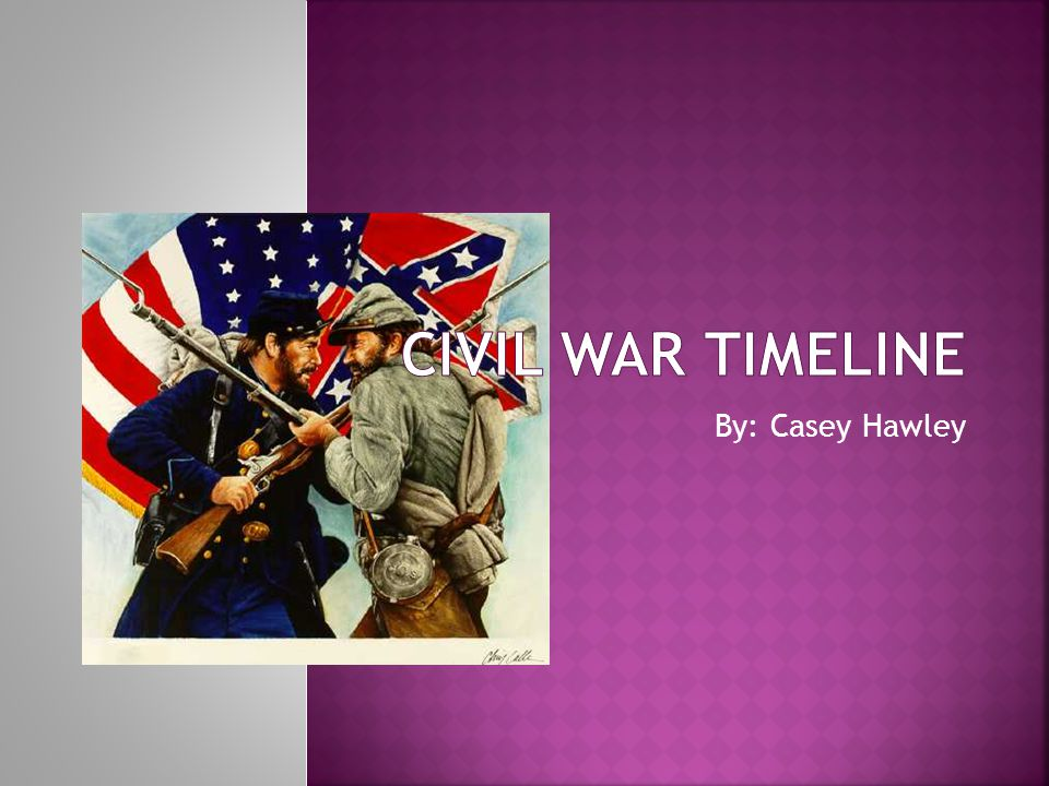 Civil War Timeline By: Casey Hawley