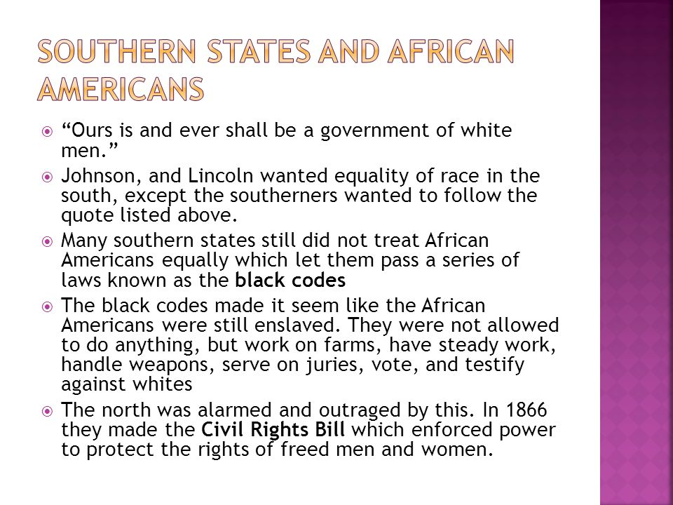 Southern States and African Americans