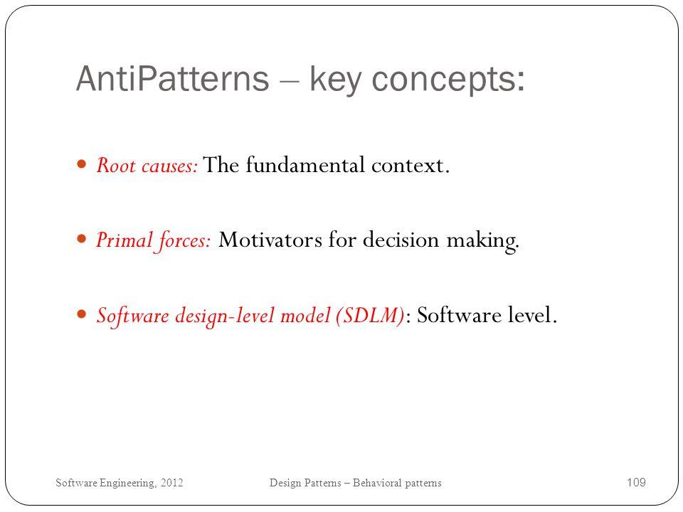 AntiPatterns – key concepts: