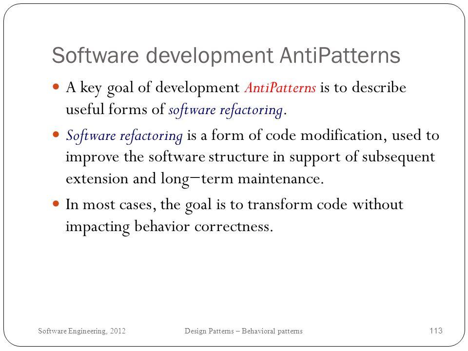 Software development AntiPatterns