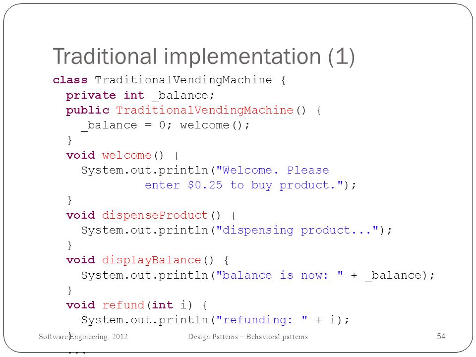 Traditional implementation (1)