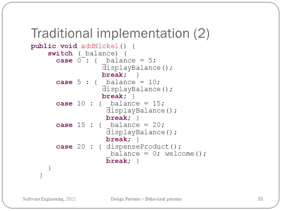 Traditional implementation (2)