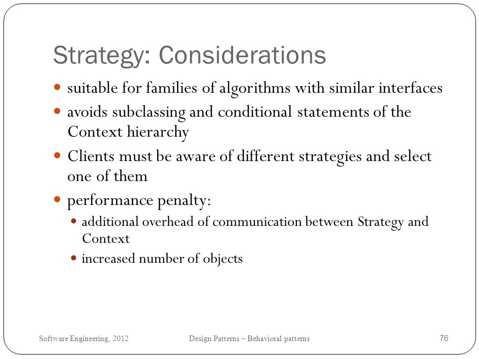 Strategy: Considerations
