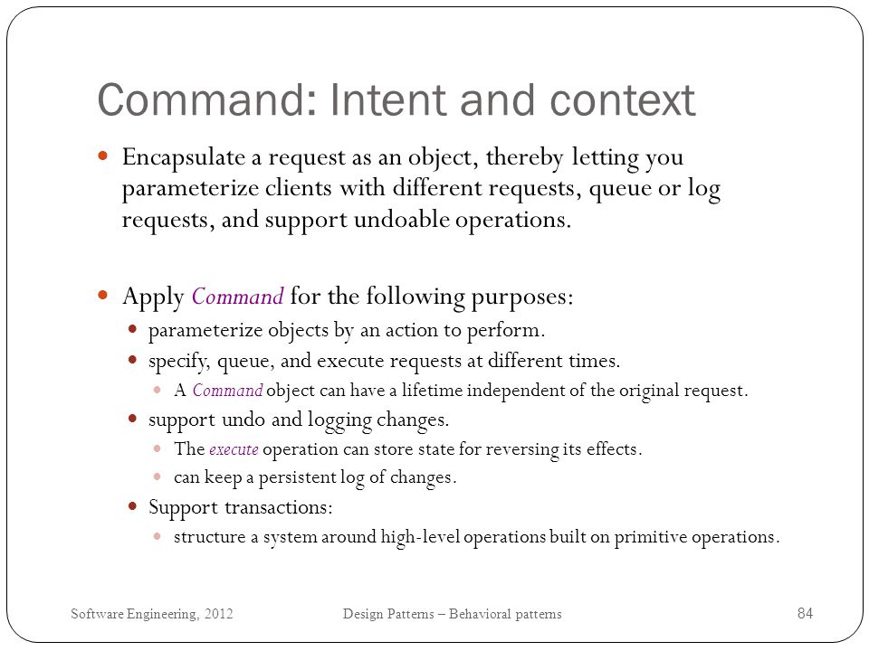 Command: Intent and context