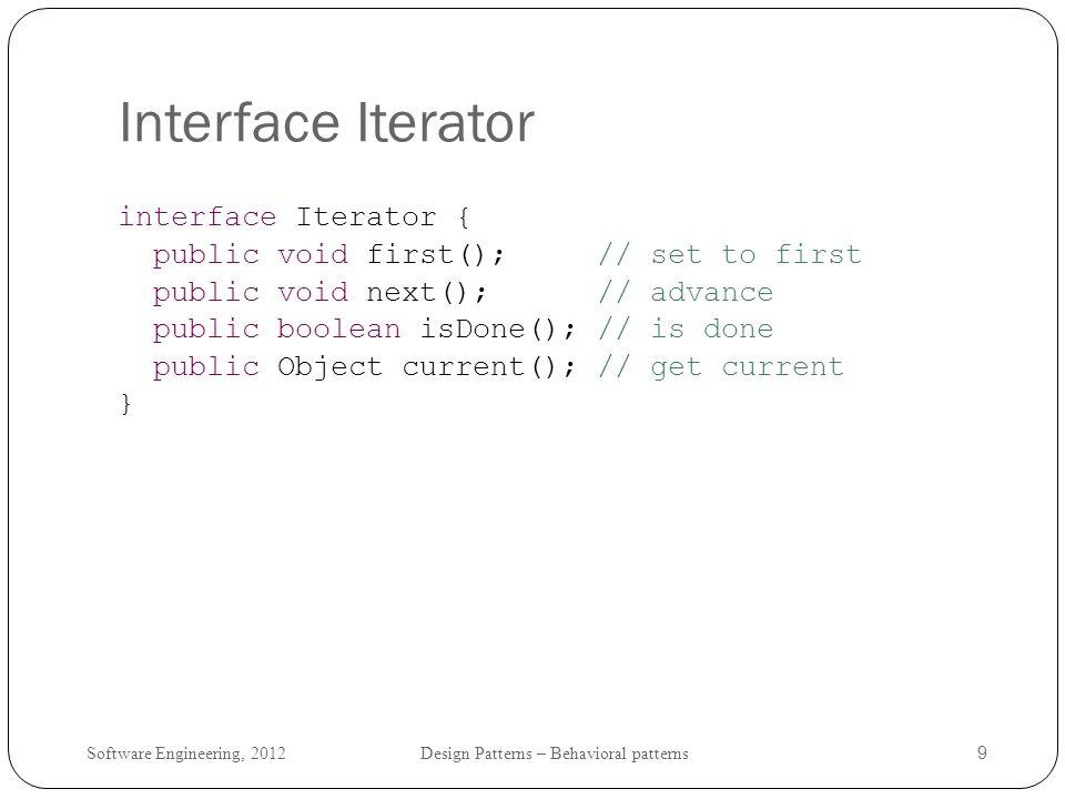 Interface Iterator