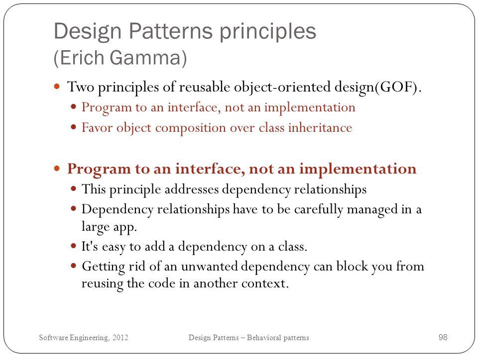 Design Patterns principles (Erich Gamma)