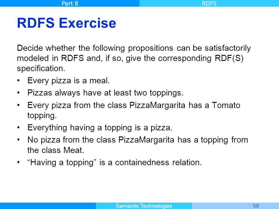 RDFS Exercise