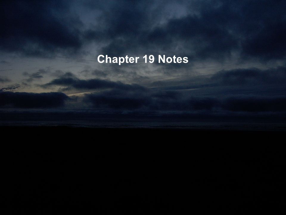 Chapter 19 Notes