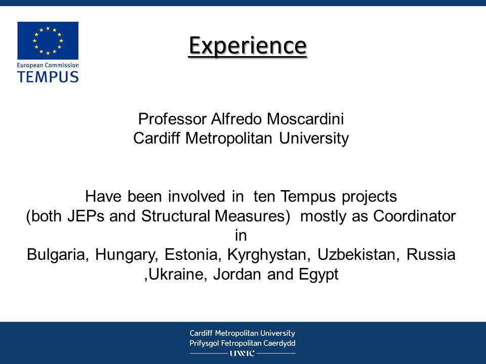 Experience Professor Alfredo Moscardini