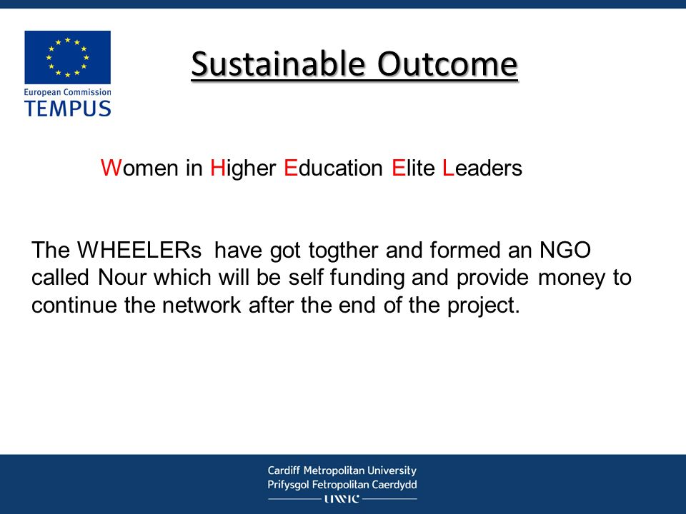 Sustainable Outcome Women in Higher Education Elite Leaders