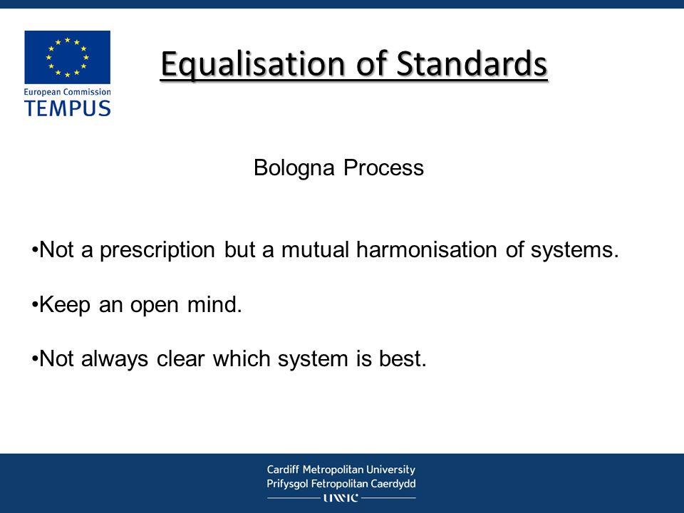 Equalisation of Standards