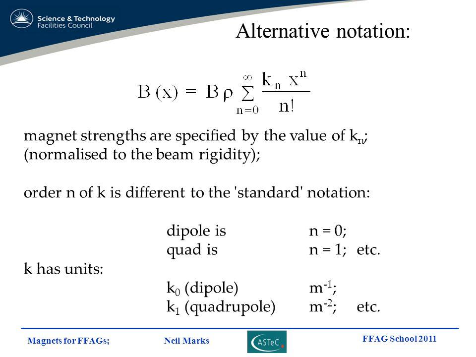 Alternative notation: