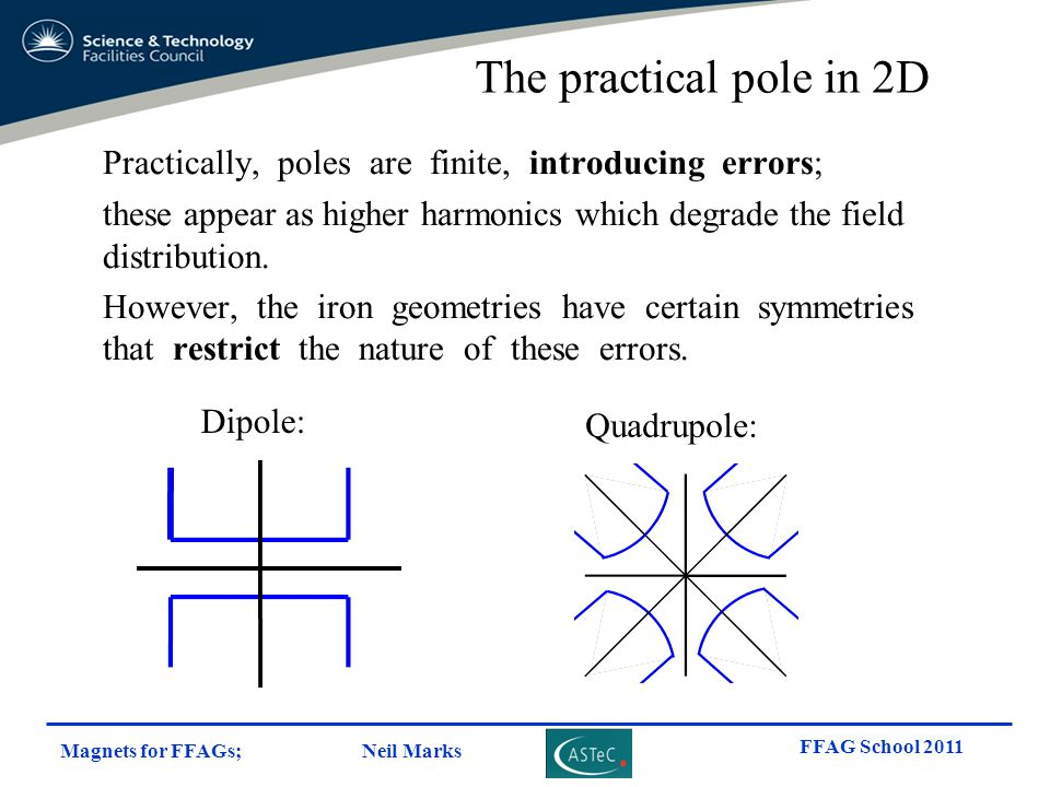 The practical pole in 2D Practically, poles are finite, introducing errors;