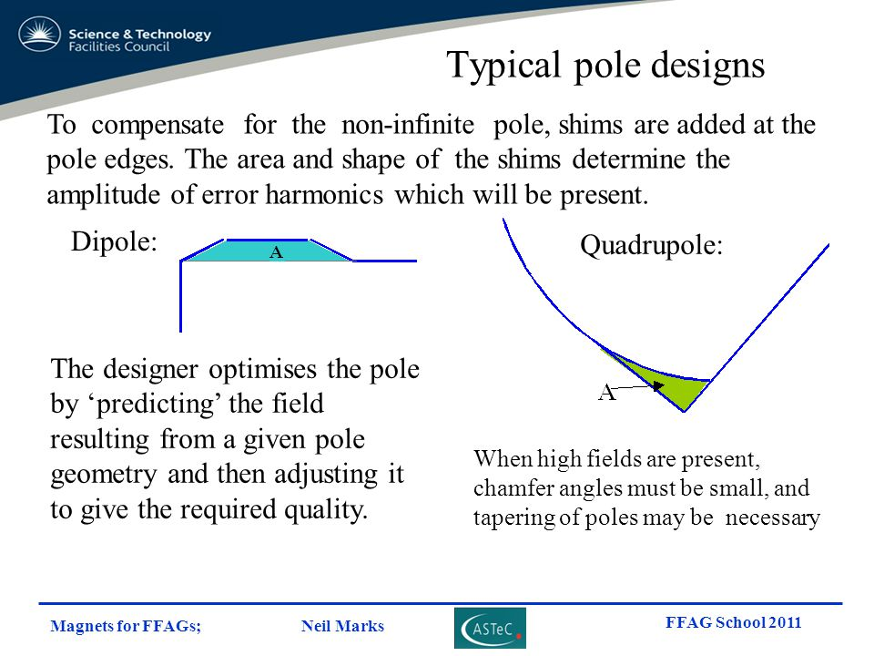 Typical pole designs