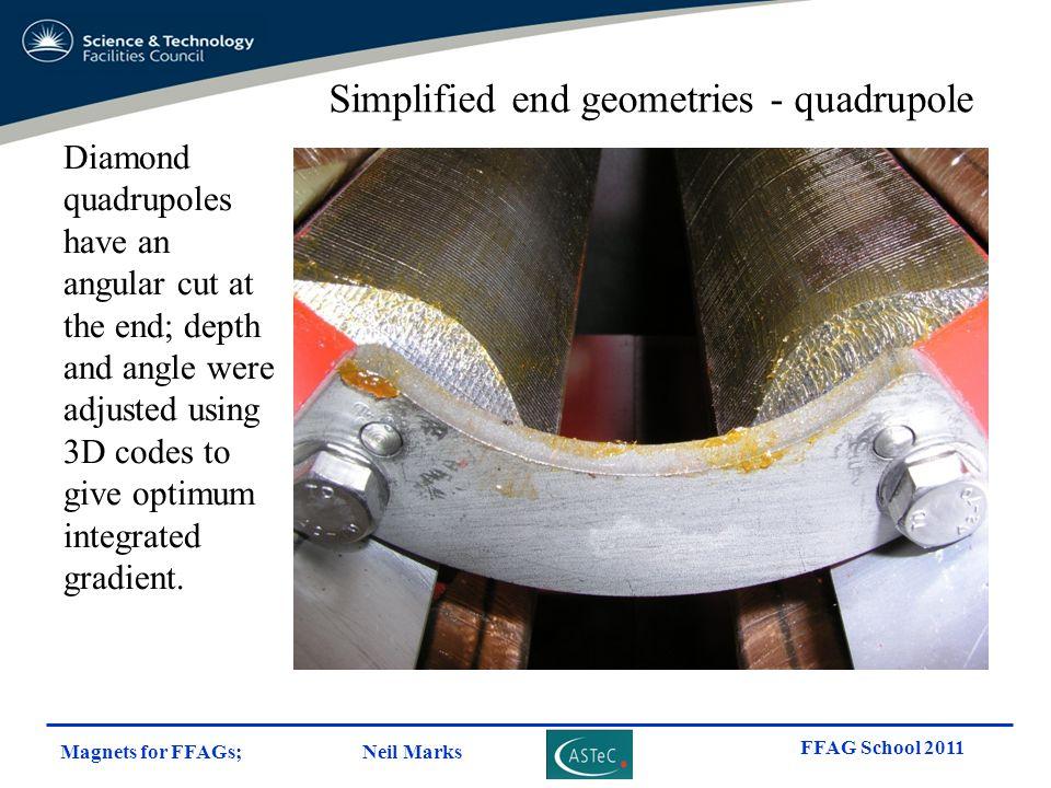 Simplified end geometries - quadrupole