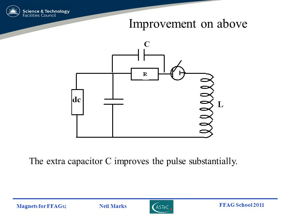 Improvement on above C The extra capacitor C improves the pulse substantially.