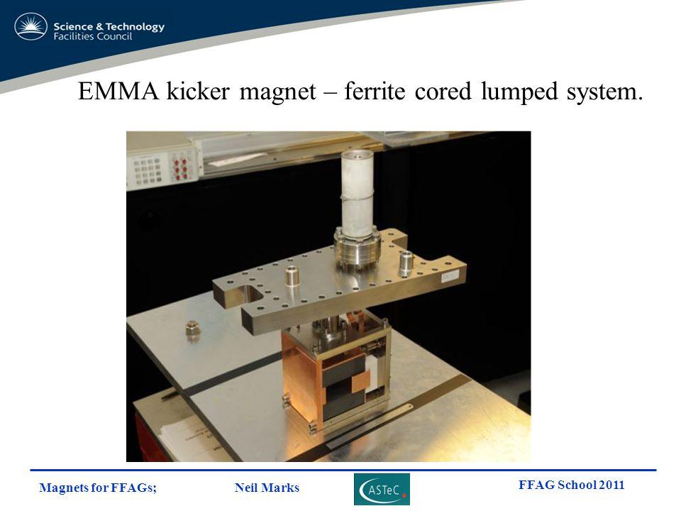EMMA kicker magnet – ferrite cored lumped system.
