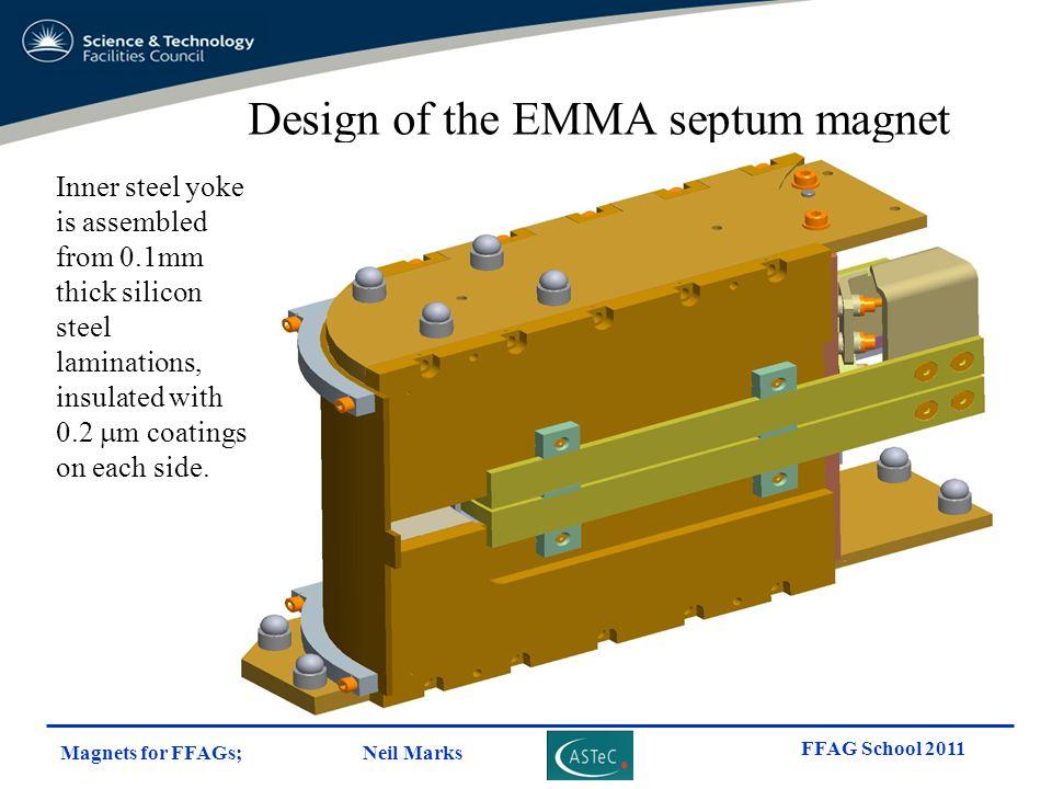 Design of the EMMA septum magnet