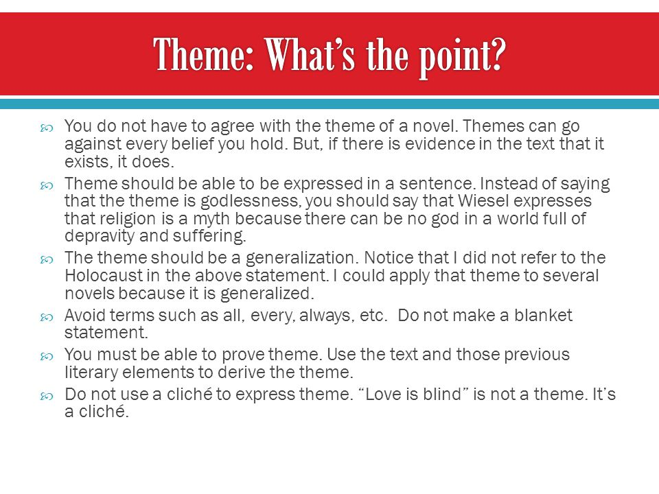 Theme: What's the point