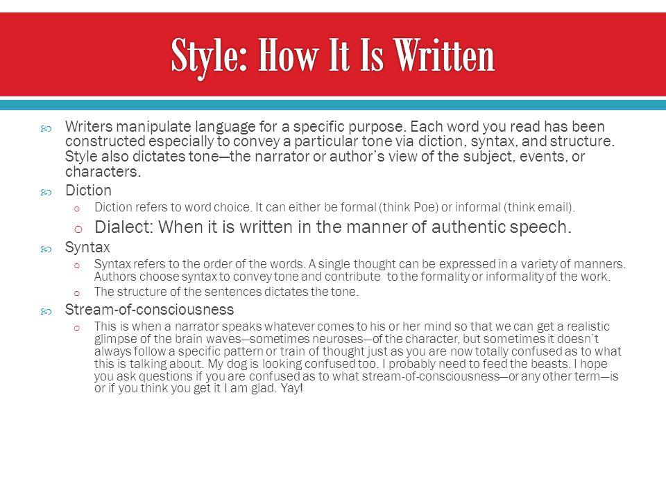 Style: How It Is Written