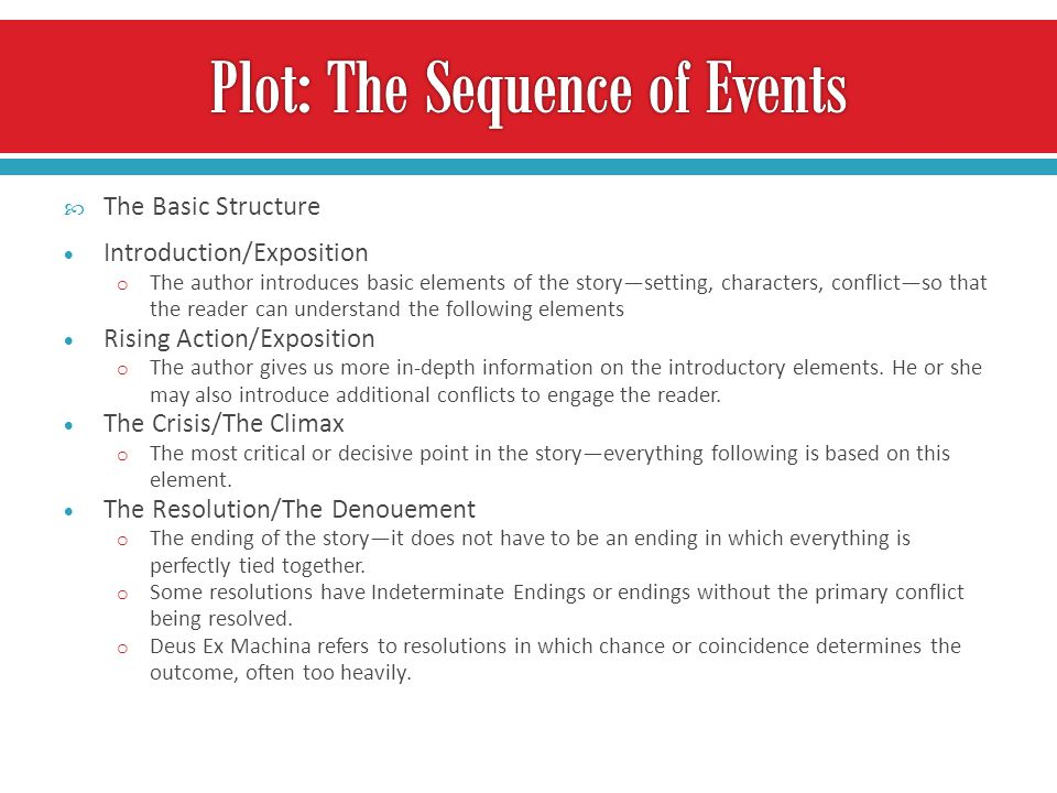 Plot: The Sequence of Events