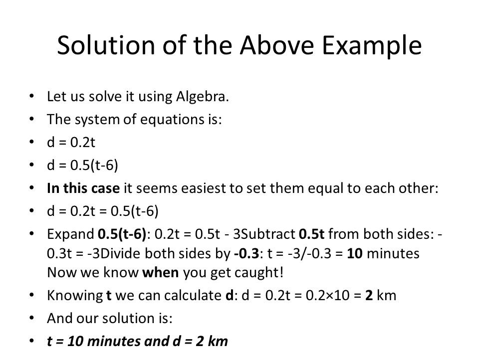 Solution of the Above Example