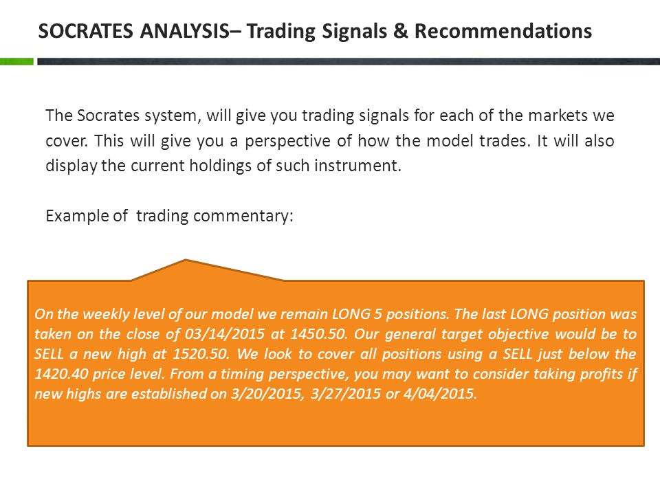 SOCRATES ANALYSIS– Trading Signals & Recommendations