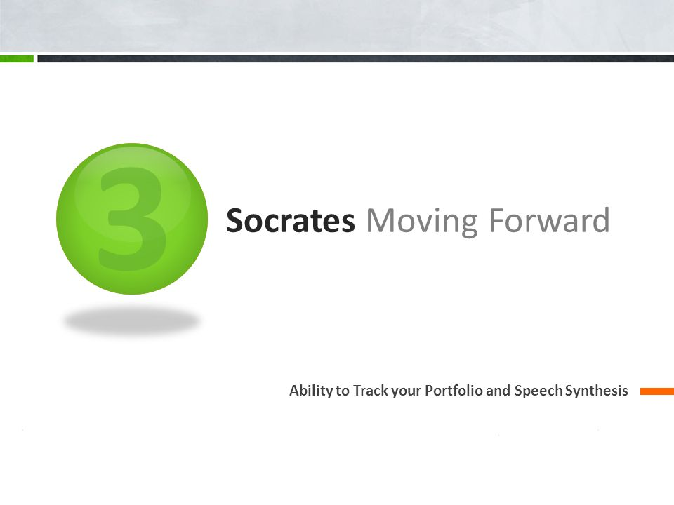 Socrates Moving Forward