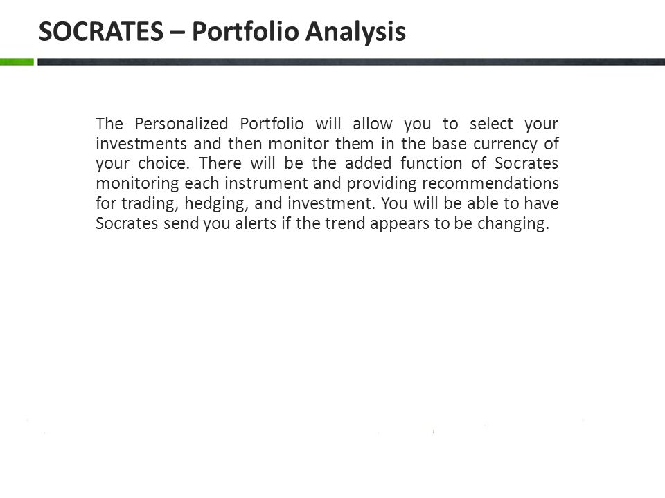 SOCRATES – Portfolio Analysis