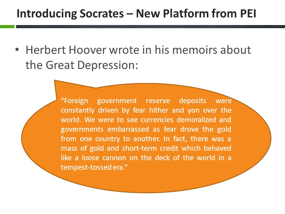 Introducing Socrates – New Platform from PEI