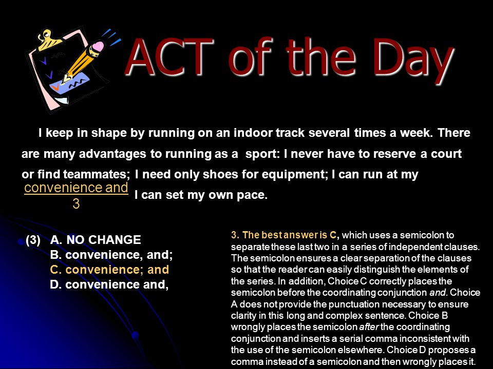 ACT of the Day convenience and 3