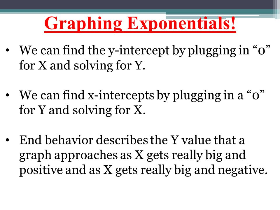 Graphing Exponentials!