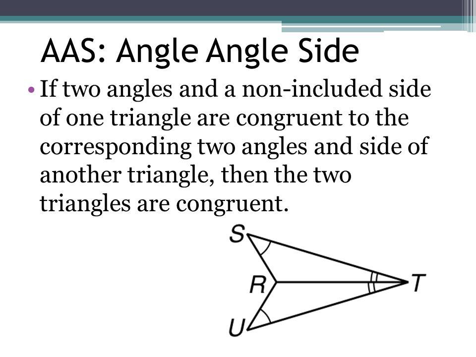 AAS: Angle Angle Side