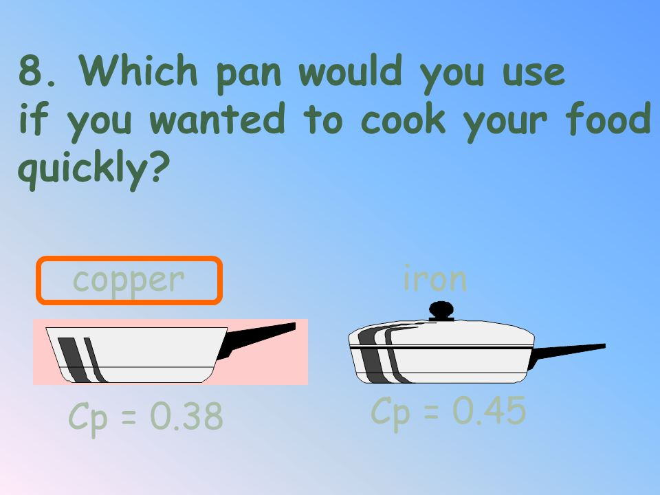 if you wanted to cook your food quickly
