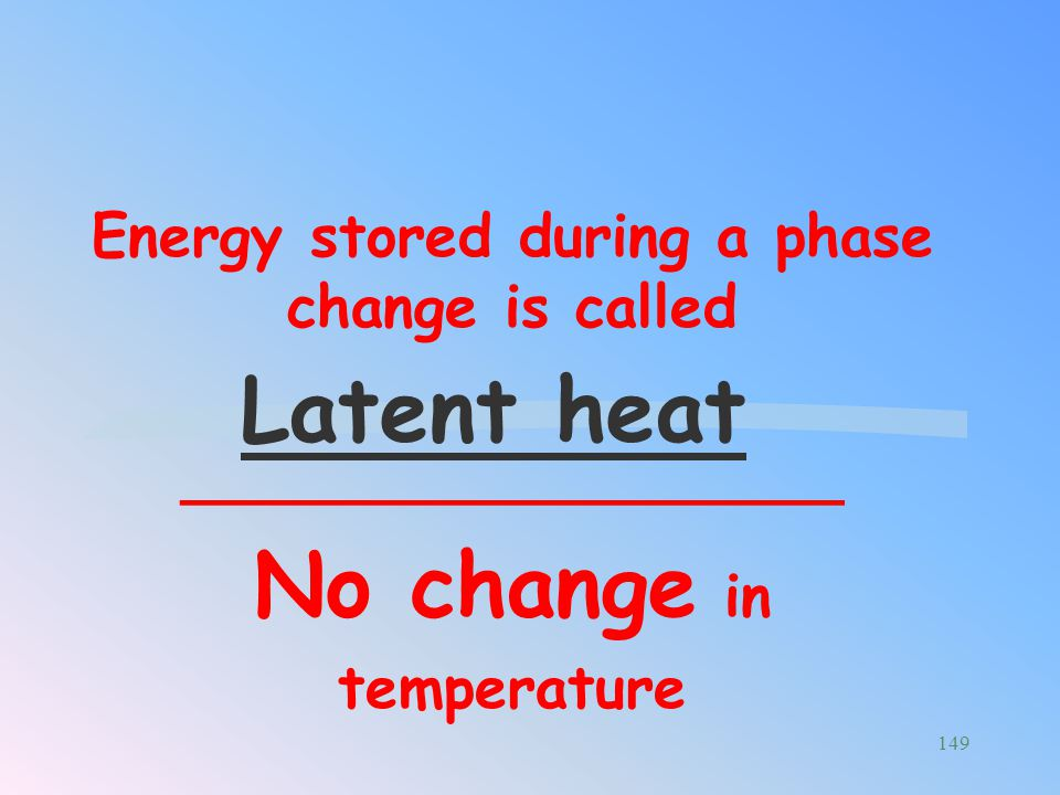 Energy stored during a phase change is called