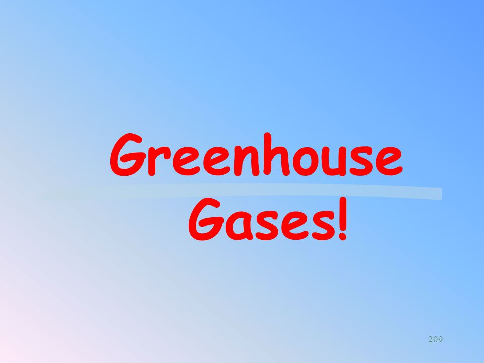 Greenhouse Gases!