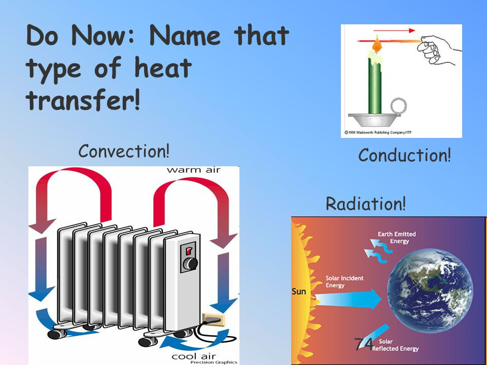 Do Now: Name that type of heat transfer!