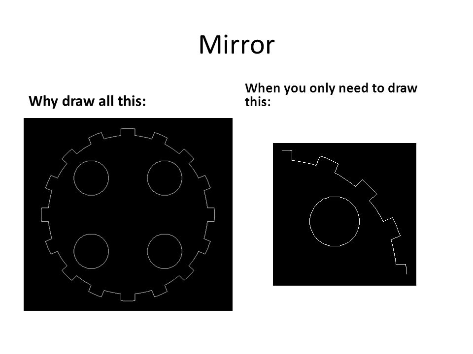 Mirror Why draw all this: When you only need to draw this: