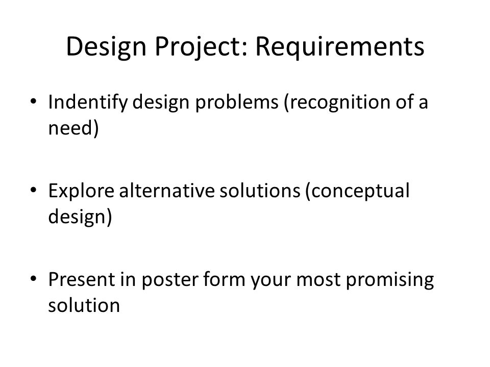 Design Project: Requirements