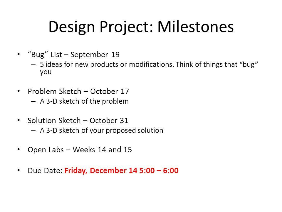 Design Project: Milestones