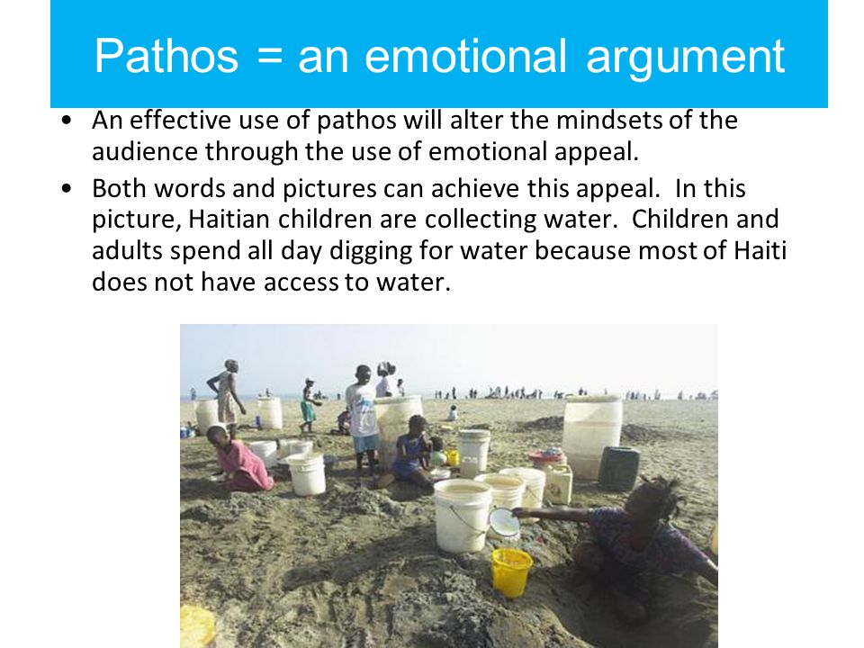 Pathos in review Pathos are appeals to emotion