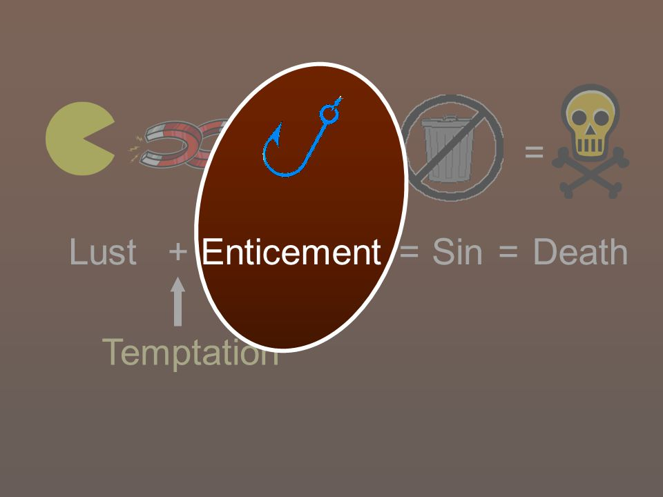= = Lust + Enticement = Sin = Death Temptation