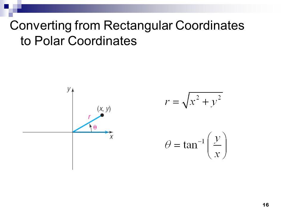 Converting from Rectangular Coordinates to Polar Coordinates
