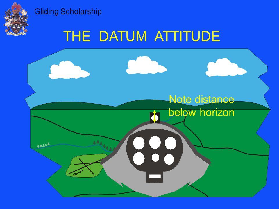 Note distance below horizon