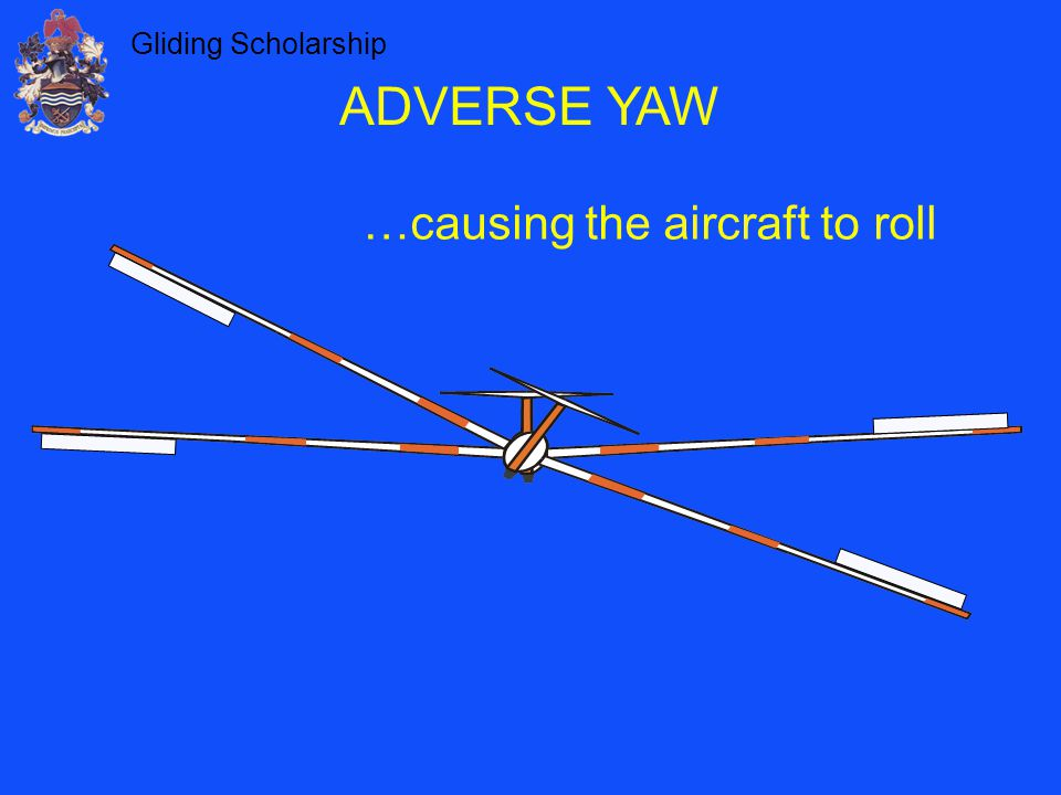 ADVERSE YAW …causing the aircraft to roll