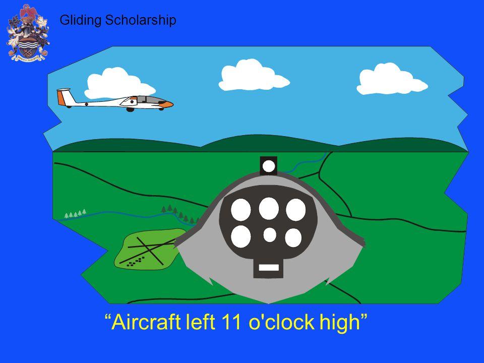 Aircraft left 11 o clock high