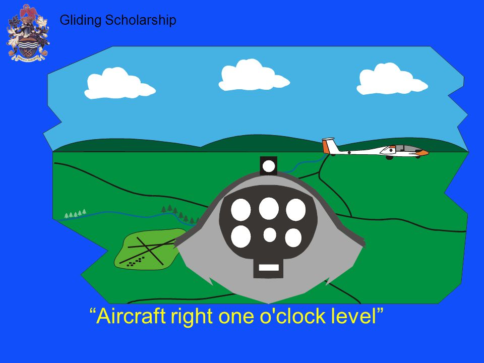 Aircraft right one o clock level