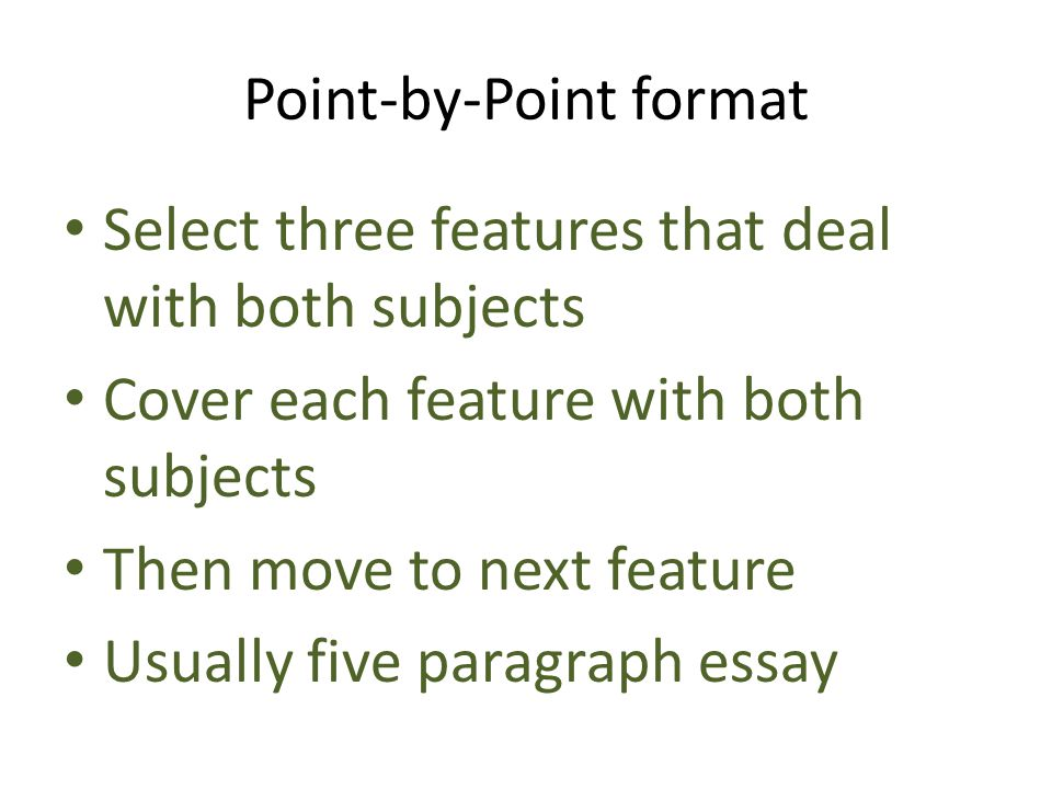 Point-by-Point format