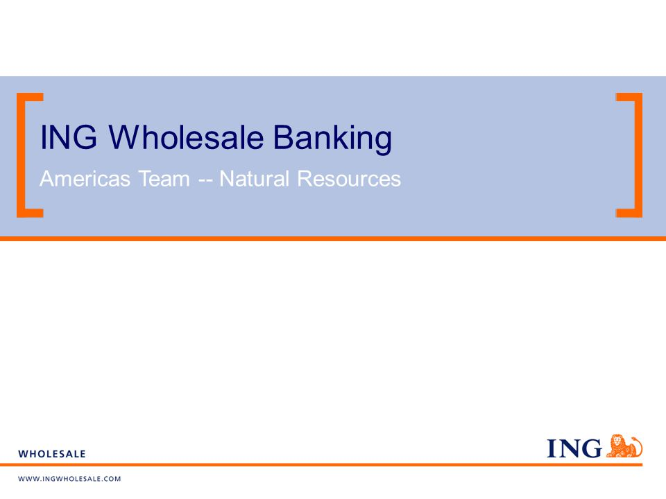 ING Wholesale - Natural Resources Group